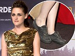 There's no business like shoe-business: Golden Girl Kristen Stewart tarnishes red carpet look by changing into scruffy trainers