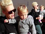 It is too early! Pink's adorable daughter Willow is less than happy about going on a Sunday morning coffee run