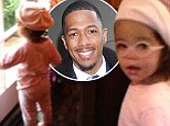 So proud: Nick Cannon posted this picture of his daughter Monroe on Instagram on Friday