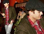Mila Kunis was joined by Ashton Kutcher for dinner in Rome