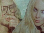 Star quality: Lindsay Lohan stars in the new R.E.M video for Blue