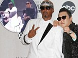 Stop, Gangnam Time! MC Hammer joins Psy on stage to perform the infamous Gangnam Style dance routine at the AMA's