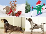 We knit you a merry Christmas! New crafty books teach you how to make woolly dogs and fluffy reindeer for unique thrifty gifts
