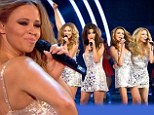 Shiny Disco Balls: Girls Aloud look just like glitterball trophies as they perform on Strictly Come Dancing