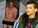Streaker on Rihanna tour plane