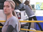 Good at heart: Kristin Cavallari flashed her skinny legs while making a donation drop at Goodwill in L.A.
