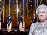 By Royal appointment: The Queen watched One Direction