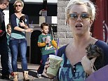 Showing off the new addition to the family: Britney Spears and her sons take their puppy shopping... but fiancé Jason Trawick is nowhere to be seen