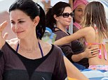 Rain drops keep falling on their heads: Courteney Cox and daughter Coco enjoyed a vacation in Miami Beach, trading drizzling L.A. for more wet weather