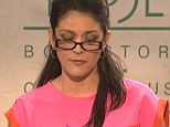 Mocking: Cecily Strong played Paula Broadwell in a sketch on Saturday Night Live