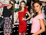 Quick change Miranda Kerr models three stunning in looks in just a few short hours as zips around NYC
