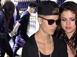 Rocky romance: Justin Bieber and Selena Gomez were spotted at the Marriott Downtown Hotel and Bootsy Bellows