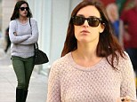 Rumer Willis opted for practical clothing during a shopping trip in Los Angeles on Monday
