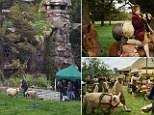 Wranglers caring for the animals used on set claim the farm they were kept at near Wellington, New Zealand, was littered with bluffs, sinkholes and other 'death traps'