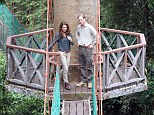Britain's Prince William, Duke of Cambridge and Catherine, Duchess of Cambridge, complete a short rainforest walk before meeting a range of researchers working at the Field Centre laboratory in Danum Valley
