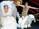 Barking mad! David Walliams and Alan Carr dress up as Pudsey the Dog and Ashleigh for hilarious sketch at the Royal Variety Performance