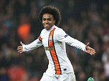 Wanted man: Shakhtar's Willian is top of Andre Villas-Boas' hitlist