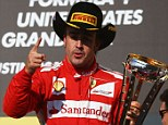 Never give up: Ferrari star Fernando Alonso is chasing his third drivers' championship title