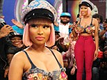 Tough critic: Nicki Minaj, pictured on the set of BET's 106 & Park Studio in New York on Monday, has admitted she's worried about how fans will react to her on America Idol