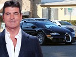 Simon Cowell arrived at The X Factor studios in Hollywood in his $1 million supercar on Monday