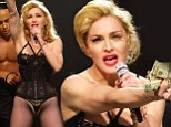 Time to move thong: Madonna, 54, tries to shock in revealing lingerie but x-rated performance is a turn off