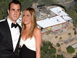 Under construction: Jennifer Aniston and Justin Theroux's Bel Air love nest is well under way