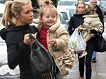 Mummy's golden girl: Abbey Crouch's daughter Sophia looks cosy in a gold quilted jacket