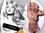 Double take! 'Naked' Madonna recreates original image from controversial Sex book for new perfume ad (with a little help with some airbrushing!)