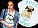 Leigh-Anne Pinnock wears anti-drug T-shirt
