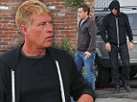 Incognito: Joe Simpson was joined by a male friend for lunch in Los Angeles on Tuesday