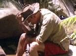 Difficult: Brian Conley had been seen struggling in the jungle, bosses thought he had trouble adjusting to the diet