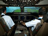 Calm and controlled: The officer had been travelling as a passenger on the 747 when he was called on to enter the cockpit and help the captain bring the plane down safely (file picture)