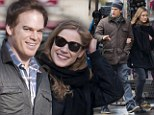 It looks like love! Michael C. Hall and novelist girlfriend enjoy an amorous stroll around Paris