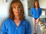 No trouser day! Kathy Griffin showed off her racy humour by tweeting a picture of herself wearing black knickers and heels on Tuesday