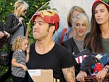 Modern Family: Ashlee Simpson joins ex Pete Wentz and his new girlfriend Meagan Camper after celebrating their son Bronx's fourth birthday