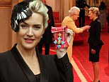 Actress Kate Winslet is awarded a CBE, for services to drama