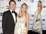 'One last nice, non-mummy day out': Brendan Cole's heavily pregnant wife Zoe shows off her bump in a flowing maxi
