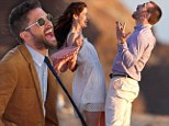Chris Evans, Michelle Monaghan and Topher Grace laugh it up on set of 'anti-romantic comedy' A Many Splintered Thing