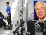 Close: Women are patted down by the TSA at Orlando airport (stock image). A U.S. congressman Ralph Hall has expressed outrage over his niece's treatment by the TSA after her breasts were exposed at a Georgia airport