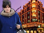 Pregnant Lily Allen faints while Christmas shopping at Harrods...but recovers with a cheese and ham toastie