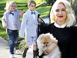 Turning into the perfect little gentlemen! Gwen Stefani's sons Kingston and Zuma are dapper in matching suits for Thanksgiving