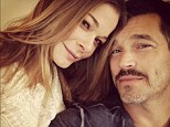 Happy and healthier: LeAnn Rimes and her husband Eddie Cibrian cuddle up for a romantic Thanksgiving snap
