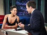 Alicia Keys almost suffered an embarrassing wardrobe malfunction during an appearance on Late Night With Jimmy Fallon on Wednesday