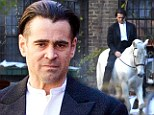 Woah Nelly! Ladies your knight arrived, Colin Farrell rides through the streets of New York atop a white horse
