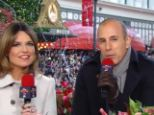 Out of touch: Matt Lauer and Savannath Guthrie host the Macy's Thanksgiving Day Parade but has faced a backlash of criticism throughout on Twitter