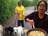At home with Oprah: Miss Winfrey gives fans a glimpse into her everyday life with intimate Twitter snaps