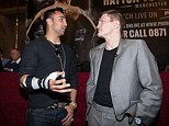 Next opponent? Ricky Hatton (right) speaks with Paulie Malignaggi at his pre-fight press conference