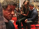 he spendable: Sylvester Stallone's daughter Sophia wears down her tough guy father in shoe store