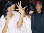 Thank goodness that's over! Delighted Rihanna can't hide her good mood as she finishes 'disastrous' 777 tour