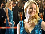 Taking the plunge! Naomi Watts channels her inner mermaid in a low-cut shimmering turquoise gown as she shoots new Spanish commercial